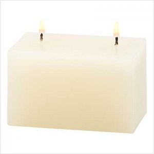 NEW! IVORY VANIILA BRICK CANDLE-ITEM #39231-BUY 1, GET 1 FREE
