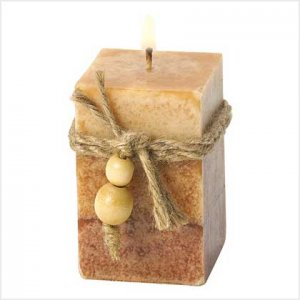 RUSTIC WOOD SQUARED VOTIVE-ITEM #39241-BUY 1 GET 1 FREE