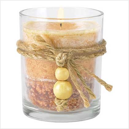 RUSTIC WOOD SPICE CANDLE-ITEM #39245-BUY 1, GET 1 FREE