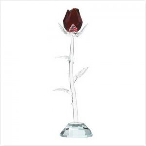 GLASS ROSE-ITEM #31898