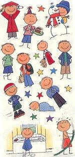 Me & My Big Ideas Brunette Boy Stickers