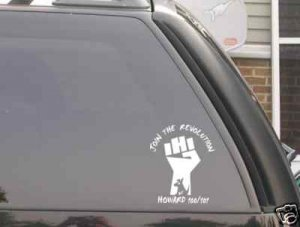 Howard Stern fist logo decal *JOIN THE REVOLUTION*FREE SHIP