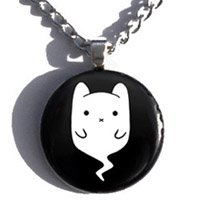 Ghost Cat Necklace