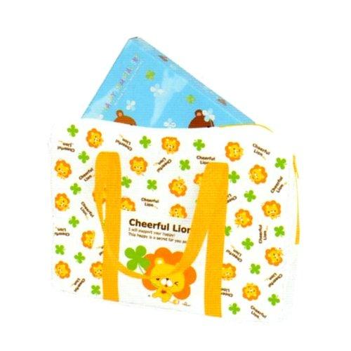 Kamio Cheerful Lion Soft Nylon Briefcase