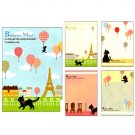 Ark Road Black Cat Memo Pad: Eiffel Tower