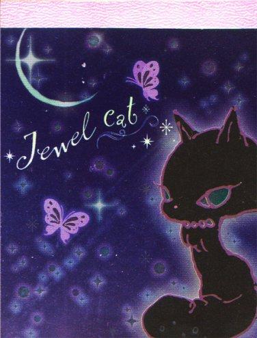 """San-X Jewel Cat """"Moon"""" Small Memo Pad"""