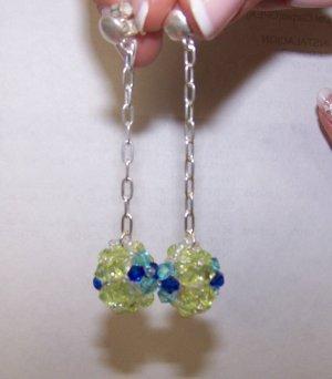 fancy zircon earrings - aretes de circon fantasia