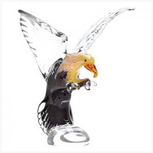 NEW! ART-GLASS EAGLE STATUE