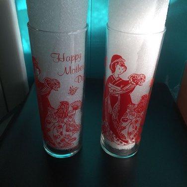 Vintage 1960s tiki mug highball geisha girl theme Orchids of Hawaii lot of 2