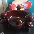 Vintage 1960s tiki mug Orchids of Hawaii R-14 brown glossy ceramic scorpion