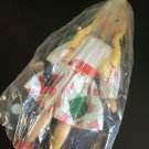 Vintage 1950s 1960s Gromada Polish peg wooden doll 7 inches #19