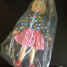 Vintage 1950s 1960s Gromada Polish peg wooden doll 7 inches #13