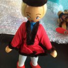 Vintage 1950s 1960s Gromada Polish peg wooden doll 7 inches #09