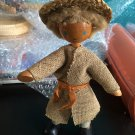 Vintage 1950s 1960s Gromada Polish peg wooden doll 7 inches #07