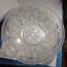 Vintage 1940s Federal Glass large fruit bowl Heritage pattern in Crystal depression glass