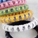 Bangle Wavon With Color Acrylic Stones 3'' Wide/DZ 6 Color Asst