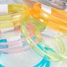 2pcs Bangles Acrylic 3'' Wide Transparent/DZ 7 Transparent Color Asst
