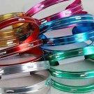 3pcs Bangles Aluminum W Dialmond Cut/DZ 6 Color Asst