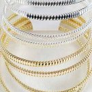 4Pcs Bangles Metal Wires 3'' Wide/DZ Choose Gold Or Silver Finish - SSB1141