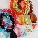 Bracelet & Earring Set Lucite W Large Teardrop/DZ