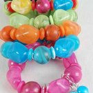 Bracelet & Earring Sets Acrylic Marble Stretch,Color Asst/DZ 6 Color Asst,Stretch