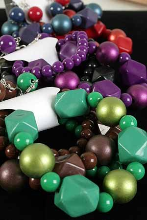 Bracelet & Earring Sets Ball Metallic & Blacks/DZ **NEW** Stretch,6 color asst, Winter Sellection