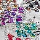 Bracelet Bangle Ovel Transparent Beads/DZ ** New Arrival** 6 Color Asst
