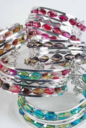Bracelet Bangle Ovel Transparent Marble Color Asst/dz ** New Arrival** 6 Color Asst