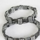 Bracelet Hematite With Squar Blocks/DZ **Stretch** New arrival