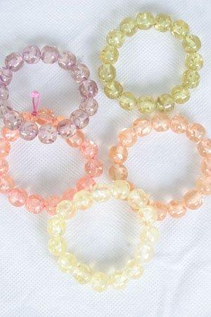 Bracelet Lucite Trancesmarble Look/DZ **stretch** Color Asst