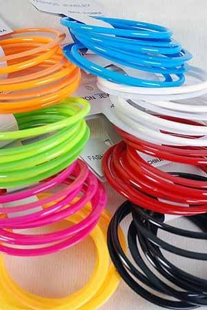 Bangles 8pc Acrylic Stackable Asse colors/dz 8 Color Asst - YBT560