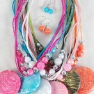 Necklace Sets Large Circle Silky Pearl W Beads/DZ ** New Arrival** 6 Color Asst