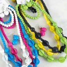 3pcs Necklace Sets Art Deco Shape Color Asst/DZ **Post** 3pcs Sets,6 Color Asst
