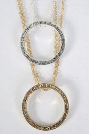 Necklace Circle Religious Bible Verse/DZ ** HOT*** With 20'' Chain
