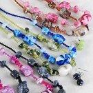 Necklace Set Marble Black W Beads'/DZ **NEW**6 Color Asst