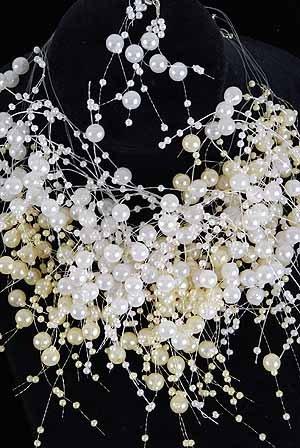 Necklace Set Pearls Asst/DZ ** White & Cream Pearl Mix