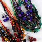 Necklace Sets Bead W Spray Block/FZ **NEW** Winter Sellection,6 Color Asst
