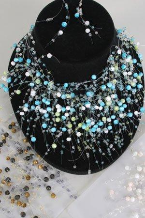 Necklace Sets Cateyes Color Asst/DZ **HOT**