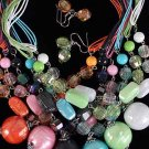 Necklace Sets Large Ball Lucite W Crystals/DZ 6Color Asst