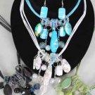 Necklace Sets Lucite Spray paint W Pearls/DZ ** New Arrival** Color Asst