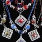 Necklace Sets Lucite W Square Pearl Drops/DZ **New Arrival** 6 Color asst