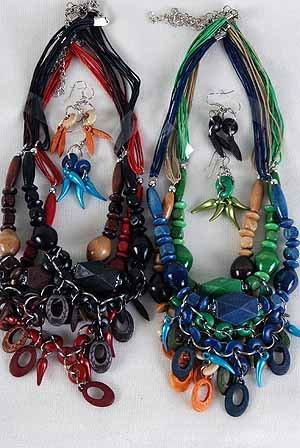 Necklace Sets Wood Color Asst **NEW** Color Asst