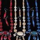 Necklace Sets Wood Color Asst 24''/DZ **NEW** 6 Color Asst 24'' Long