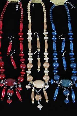 Necklace Sets Wood Color Asst 24''/DZ **NEW** 6 Color Asst 24'' Long