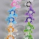 Earrings Butterfly Epoxy W Pearl/DZ ** New Arrival** Color Asst