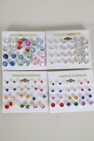 Earring 12pr Color studs/Dz **HOT**choose colors