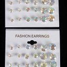 Earrings 12per ABclear Studs/DZ ABclear