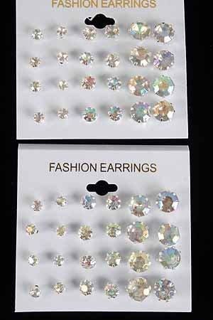 Earrings 12per ABclear Studs/DZ ABclear