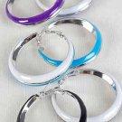 """Earrings 2-tone Epoxy Color Asst 2""""x2""""/DZ 6 Color Asst"""