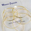 """Earrings 3 Per large Shiney Hoops Gold 2"""" 2.5"""" 3"""" 3Size Mix/DZ Gold"""